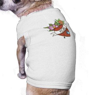 Camiseta Camisa do animal de estimação do tatuagem da mamã