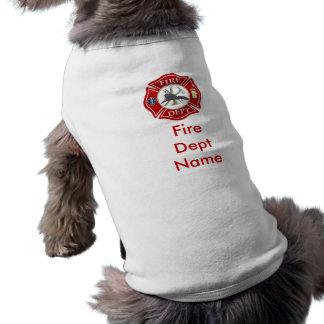 Camiseta Camisa do cachorrinho da cruz maltesa do sapador-b