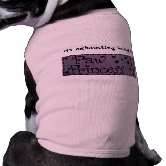 Camiseta Camisa do cachorrinho da princesa da pata