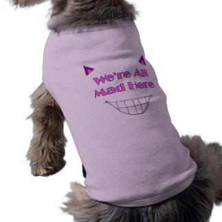 Camiseta Camisa do cachorrinho do gato de Cheshire