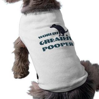 Camiseta Camisa do doggy do pooper dos mundos a grande