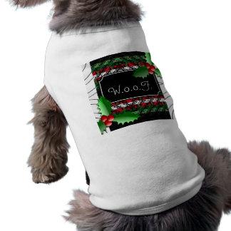 Camiseta Camisa feia personalizada bonito do feriado do cão