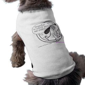 Camiseta Camisa interna do cachorrinho do filhote de