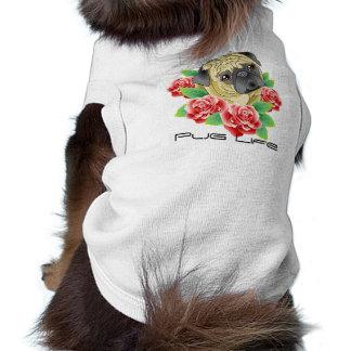 Camiseta Camisa legal do estilo do tatuagem da vida do Pug