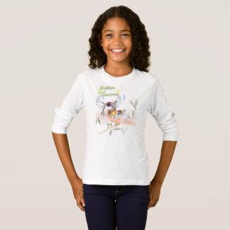"Camiseta ""Camisa longa da luva T das meninas escondidas dos"