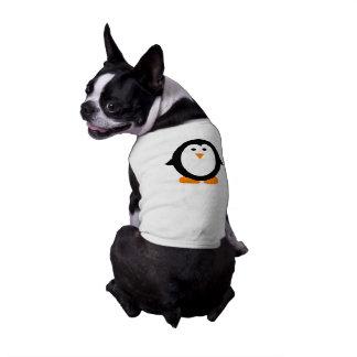 Camiseta Camisa lunática bonito do pinguim para cães