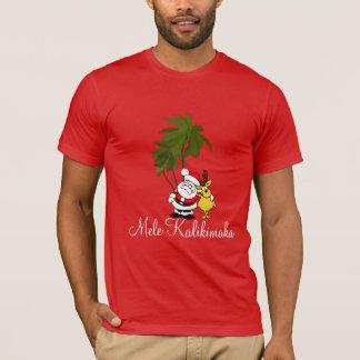 Camiseta Camisa-Mele Kalikimaka/Feliz Natal do feriado dos