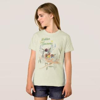 """Camiseta """"Camisa orgânica do T das meninas escondidas dos"""