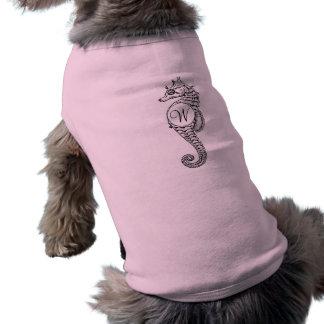 Camiseta Camisa rubricada esboço do cachorrinho do cavalo