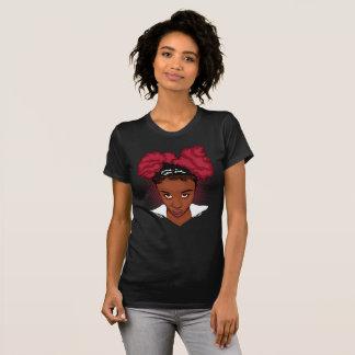 Camiseta Camisa/T naturais Kinky do sopro T do Afro do