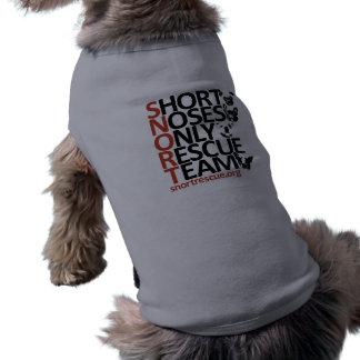 Camiseta Camisa vertical do filhote de cachorro do SNORT