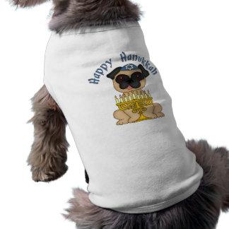 Camiseta Camisetas adoráveis do Pug de Hanukkah
