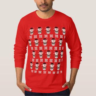 Camiseta Camisola bonito da ligação em ponte do Xmas do