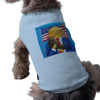 Camiseta Camisola de alças com nervuras do cachorrinho
