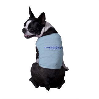 Camiseta Camisola de alças com nervuras do cachorrinho com