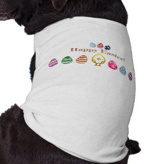Camiseta Camisola de alças com nervuras do cachorrinho do