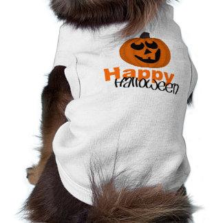 Camiseta Camisola de alças com nervuras do cachorrinho feli