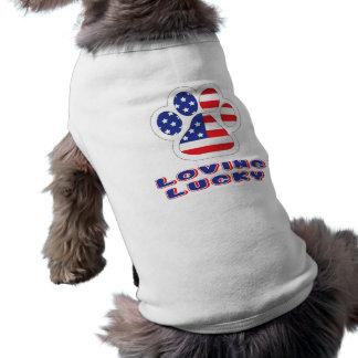 Camiseta Camisola de alças com nervuras do Doggy de América