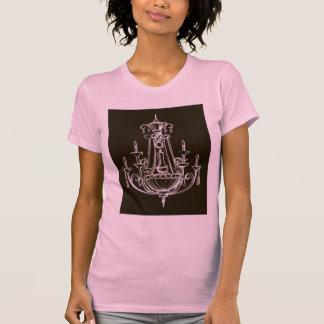 Camiseta Camisola de alças cor-de-rosa e preta do