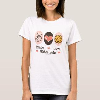 Camiseta Camisola de alças do pólo aquático do amor da paz