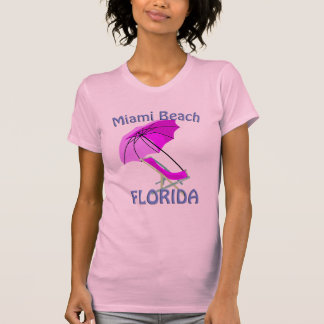 Camiseta Camisola de alças do rosa quente de Miami Beach