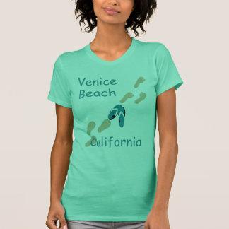 Camiseta Camisola de alças dos chinelos da praia de Veneza