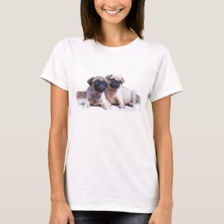 Camiseta Camisola de alças dos filhotes de cachorro do Pug