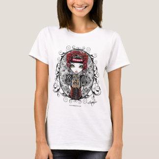 Camiseta Camisola de alças gótico da fada do Couture do