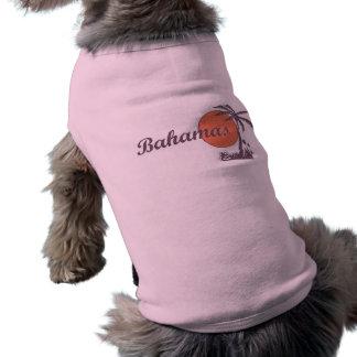 Camiseta Camisola de alças vestida Bahama do animal de esti