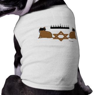 Camiseta Camisola do animal de estimação dos gatos de