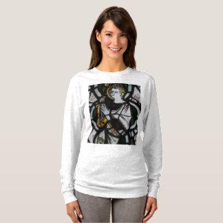 Camiseta Camisola do anjo do vitral