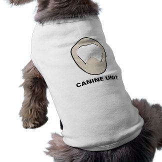 """Camiseta """"Camisola do cão da unidade canina"""""""