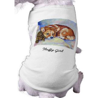 Camiseta Camisola do cão do Corgi de Galês do Pembroke
