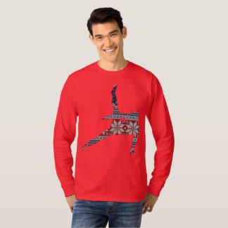Camiseta Camisola do Natal da ginástica - a silhueta dos