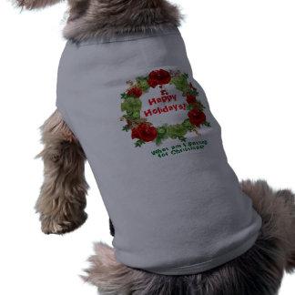 Camiseta Camisola do Natal do cão