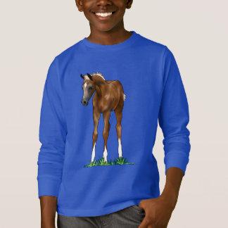 Camiseta Camisola encapuçado dos miúdos do potro árabe