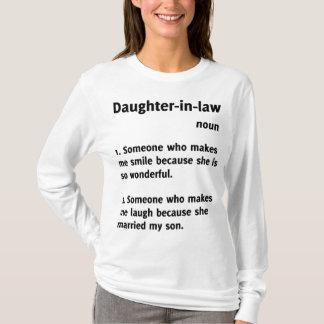 Camiseta Camisola engraçada da definição da nora