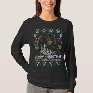 Camiseta Camisola feia alemão do Natal do ponteiro de