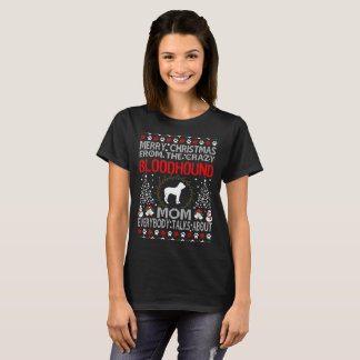 Camiseta Camisola feia da mamã do cão do Bloodhound do