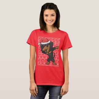 Camiseta Camisola feia de toque ligeiro do Natal do