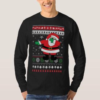 Camiseta Camisola feia de toque ligeiro do Natal do papai