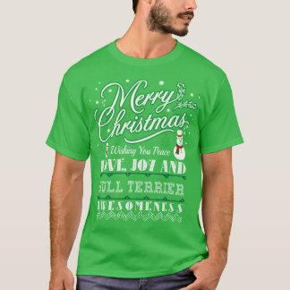 Camiseta Camisola feia do cão de bull terrier do amor do