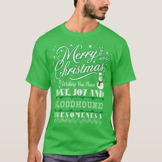 Camiseta Camisola feia do cão do Bloodhound do amor do