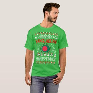 Camiseta Camisola feia do Natal bengali alegre do país