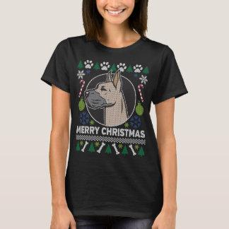 Camiseta Camisola feia do Natal da raça do cão de great