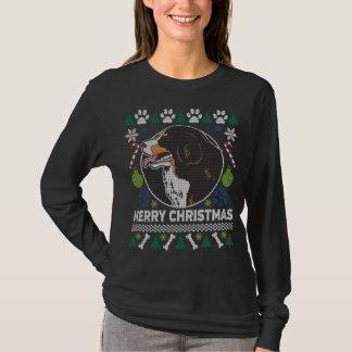 Camiseta Camisola feia do Natal da raça do cão de montanha