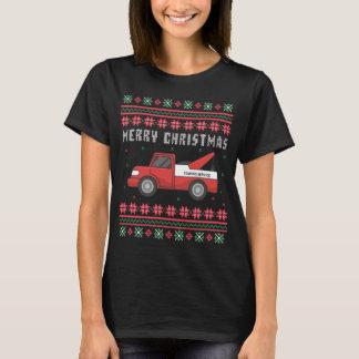 Camiseta Camisola feia do Natal do caminhão de reboque