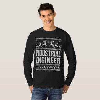 Camiseta Camisola feia do Natal do engenheiro industrial