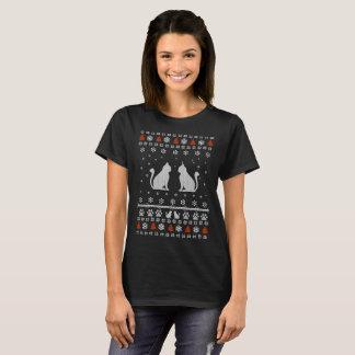 Camiseta Camisola feia do Natal do gato