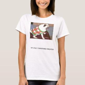 Camiseta Camisola feia do Natal do Pug